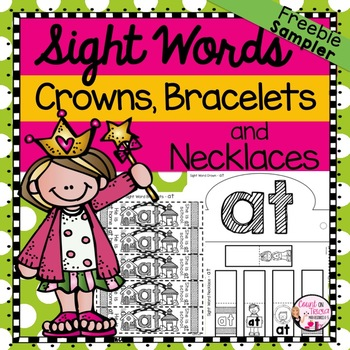 Sight Word Activities Headband Crowns, Necklaces and Bracelets