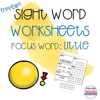 Sight Word Worksheets: Little Freebie