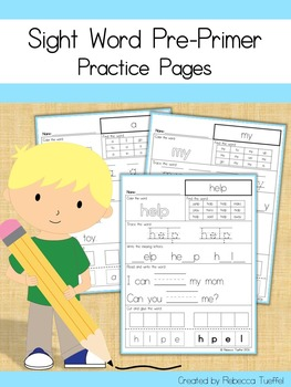 Sight Word Practice Pages: PrePrimer