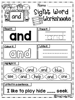 Sight Word Worksheets (Pre-Primer) - Coronavirus packet - Distance Learning