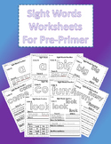 Sight Word Worksheets: Pre-Primer