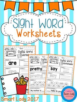 Sight Word Worksheets (Primer) - Coronavirus Packet - Distance Learning