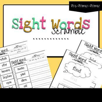 Sight Word Worksheets Printables: Sight Word Scramble Two Ways!!