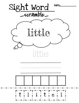 Sight Word Worksheets Printables: Sight Word Scramble Two Ways!! FREEBIE!!!