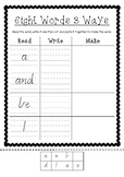 Sight Word Worksheets Read, Write, Make AUS