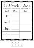 Sight Word Worksheets Read, Write, Make AUS/USA