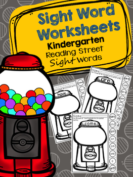 Sight Word Worksheets - Reading Street