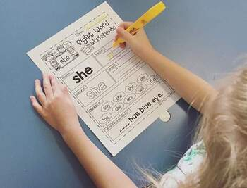 Sight Word Worksheets The BUNDLE