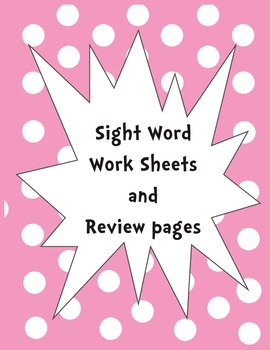 Sight Word Worksheets and Color By Sight Word by Karen Bass ...