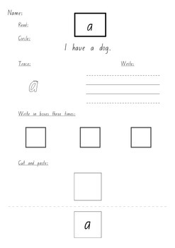 Sight Word Worksheets sample NSW Foundation Font