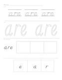 Sight Word Worksheets set 6
