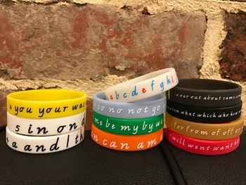 WRISTWORDS Sight Word Wrist Bands - learn the first 99 wor