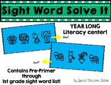 Sight Word Write The Room Puzzles {A Year Long Literacy Center}
