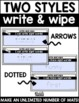 Sight Word Write and Wipe Mats EDITABLE