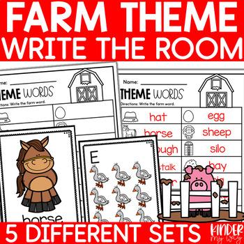 Farm Sight Word Write the Room