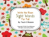 Sight Word Write the Room for Fall