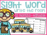 Sight Word Write the Year {12 months}