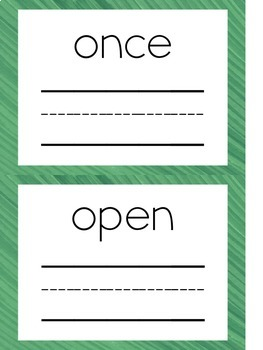 Sight Word Writing Card Bundle