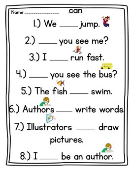 Sight Word Writing Practice (I, a, the, am, at, can, me, so, and, like, is, see)