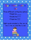 Sight Word Writing Practice (I, a, the, am, at, can, me, s