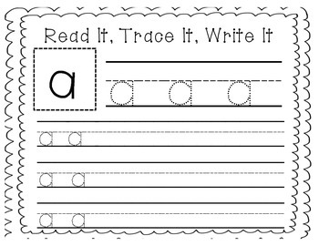"""Sight Word Writing Practice: """"A"""""""