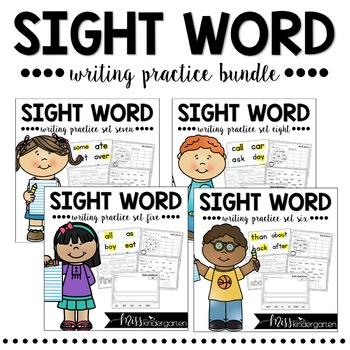 Sight Words for Kindergarten Year Long Bundle