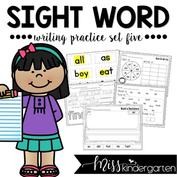 Sight Word Writing Practice Five