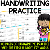 Sight Word Writing Practice - Fry's First Hundred {Click File, Print BUNDLE}