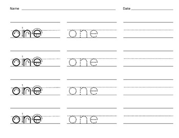 Sight Word Writing Practice - Fry's First Hundred List 2 {Click File, Print}