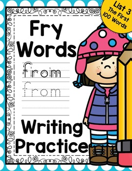 Sight Word Writing Practice - Fry's First Hundred List 3 {
