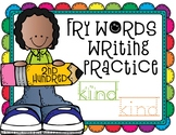 Sight Word Writing Practice - Fry's Second Hundred {Click File, Print}