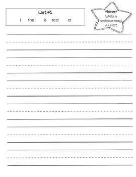 Sight Word Writing Practice {List #1 - 3}