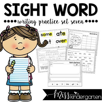 Sight Word Writing Practice Seven