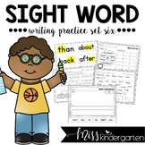 Sight Word Writing Practice Six