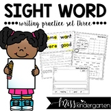 Sight Word Worksheets Set Three