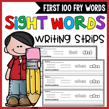 Sight Words Writing Strips