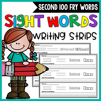 First Grade Sight Words Writing Strips