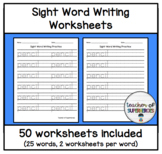 Sight Word Writing Worksheets (Words 26-50 from Edmark Level 1 Word List)