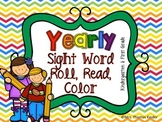 Sight Word {Yearly Roll Read and Color}