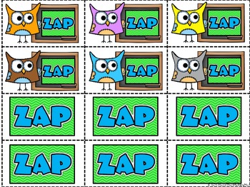 Sight Word - ZAP - Card Game {Pre-Primer}