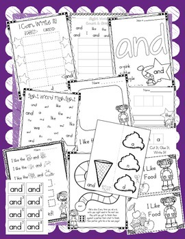 Sight Word of the Week (15 Activities for the word AND)