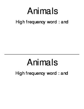 """Sight Word """"and"""""""