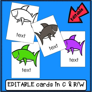 Sight Word and AR Words Game : Tricky Sharks {EDITABLE}