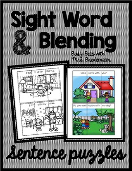 Sight Word and Blending Sentence Puzzles
