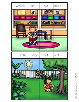 Sight Word and Blending With Bossy E Sentence Puzzles