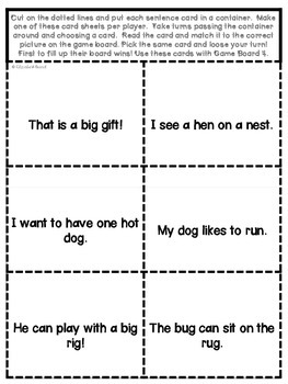 Sight Word and CVC word Sentences: Match 'em Up