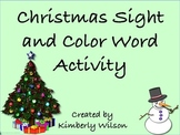 Sight Word and Color Word Activity