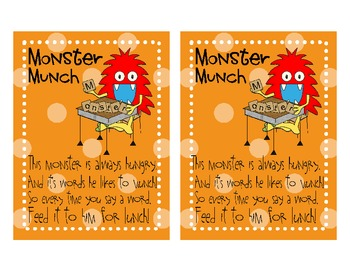 Sight Word and Flashcard Practice - Monster Munch