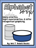 Sight Word and Letter Graphing Alphabet Soup
