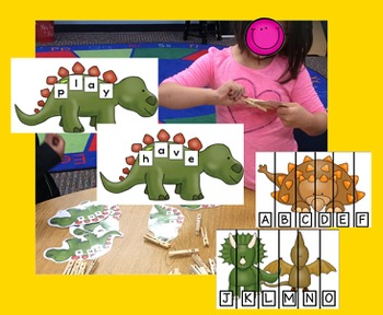 Sight Word and Letter Sequence Dinosaurs